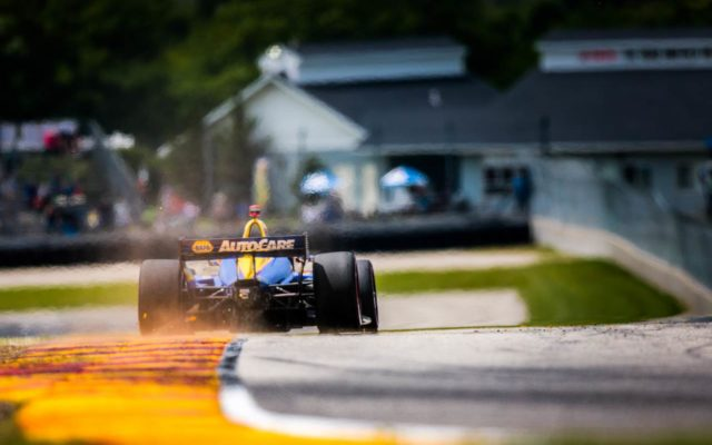Alexander Rossi races to turn 8 at Road America.  © [Andy Clary/ Spacesuit Media]