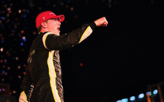 Josef Newgarden celebrates in victory lane at Texas Motor Speedway.  © [Jamie Sheldrick/ Spacesuit Media]