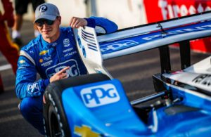 Josef Newgarden wins the NTT P1 Award qualifying Friday at World Wide Technology Raceway at Gateway. © [Andy Clary/ Spacesuit Media]
