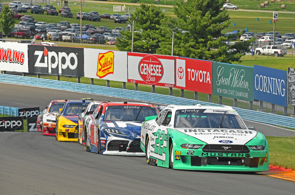 Austin Cindric climbs through the esses in the early going of the Zippo 200. [Joe Jennings Photo]