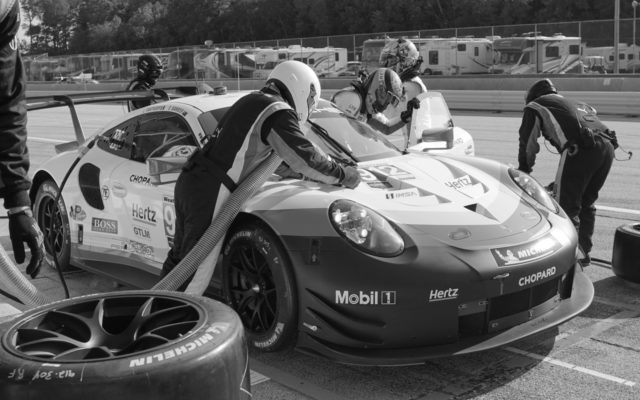 Pit stop for Bamber and Vanthoor.  [Photo by Jack Webster]