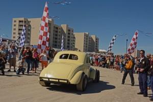 Stock cars on the beach. [Joe Jennings Photo]