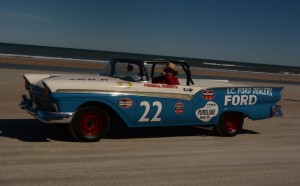 Replica of Ford driven by Hall of Fame driver Fireball Roberts.  [Joe Jennings Photo]