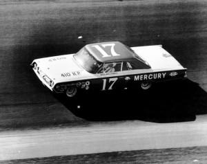 In 1964, Dave MacDonald drove this Bill Stroppe prepared Mercury Marauder in the '64 Daytona 500.  MacDonald cut his racing teeth on California's road courses and later won in the Corvette Sting Rays and Shelby Cobras .  [Photo courtesy of the Steve Zautke collection]