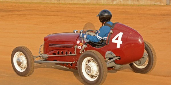 Some two dozen vintage race cars took to the track on Thursday evening.  [Joe Jennings Photo]