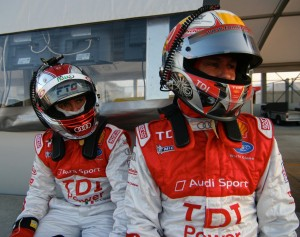 Dindo Capello and Tom Kristensen at Sebring.  [Photo by Jack Webster]