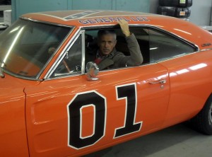 Dindo Capello behind the wheel of his other passion - his super fast and beautifully restored General Lee, which must be quite the sight on Italian roads!  [Photo: Dindo Capello collection]