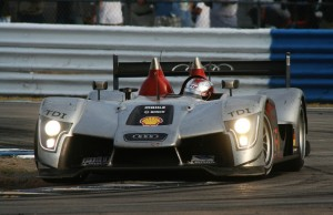 Dindo Capello powering the Audi R15 through the hairpin at Sebring in 2009.  [Photo by Jack Webster]