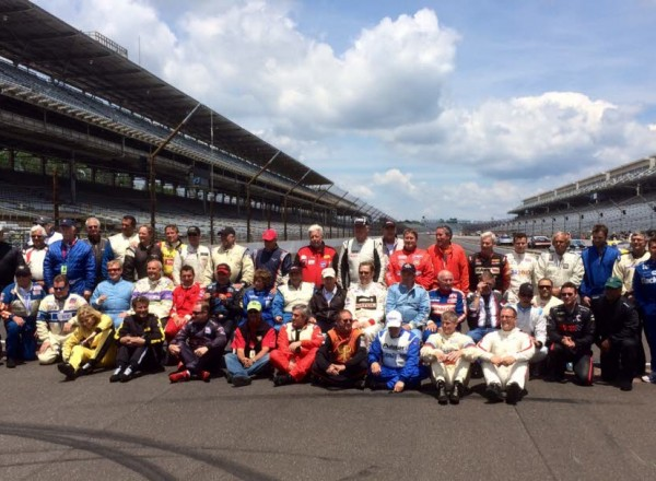 Indy Pro-Am drivers pose before race.  [Steve Zautke photo]