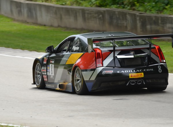 Andy Pilgrim into turn 13 at Road America in the Cadillac CTS-VR  [John Wiedemann Photo]