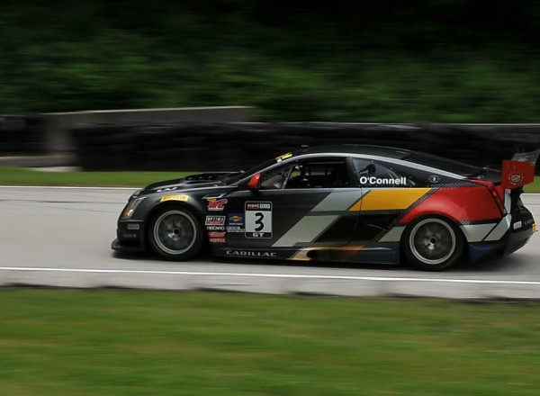 Johnny O'Connell out of turn 12 in the Cadillac CTS-VR.  [John Wiedemann Photo]