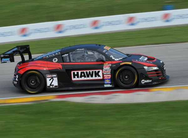 Mike Skeen races through turn seven in the Hawk Performance Audi R8 Ultra.  [John Wiedemann Photo]