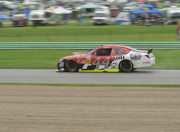 Carlos Contreras races in the rain at Road America.  [John Wiedemann Photo]