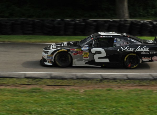 Brian Scott accelerates in the wet at Road America.  [John Wiedemann Photo]