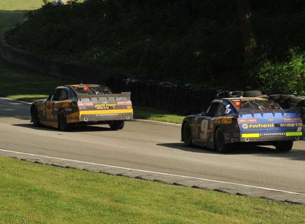 Brendan Gaughan pulls away with the lead and just over one lap to go at Road America.  [John Wiedemann Photo]