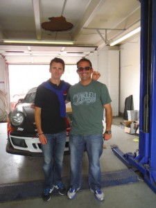 Romain Dumas and Eddie LePine at the shop where they worked on the cars.  [Eddie LePine Photo]