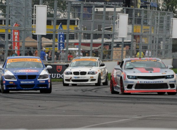 Grand Sport racing action in the Continental Tire SportsCar Challenge race at Indianapolis. [Russ Lake Photo]