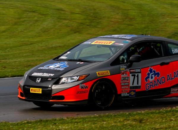 Michael DiMeo, won Round 9 Pirelli World Challenge in his Honda Civic Si.  [Andy Clary Photo]