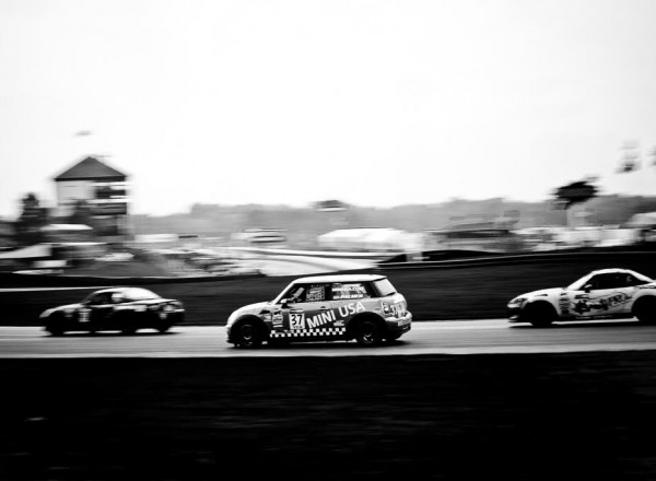 Tyler Palmer races through the field in his Mini Cooper.  [Andy Clary Photo]