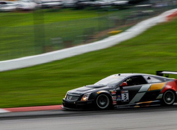 Johnny O Connell in the Cadillac CTS-V R raced to a second place finish at Mid Ohio.  [Andy Clary Photo]