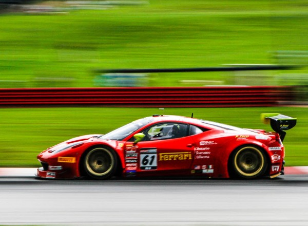 Anthony Lazzaro in the Ferrari 458 GT3 Italia at Mid Ohio.  [Andy Clary Photo]