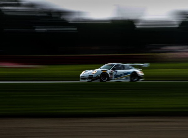 Jim Taggart flies by in his Porsche GT3 R at Mid Ohio.  [Andy Clary Photo]