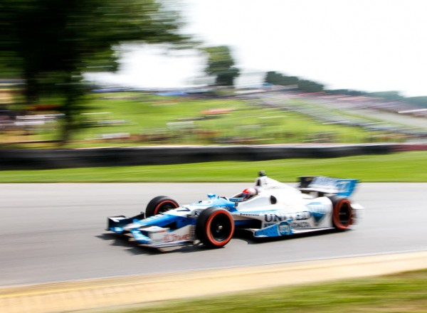 James Hinchcliffe speeds to his best finish of the season.  [Andy Clary Photo]