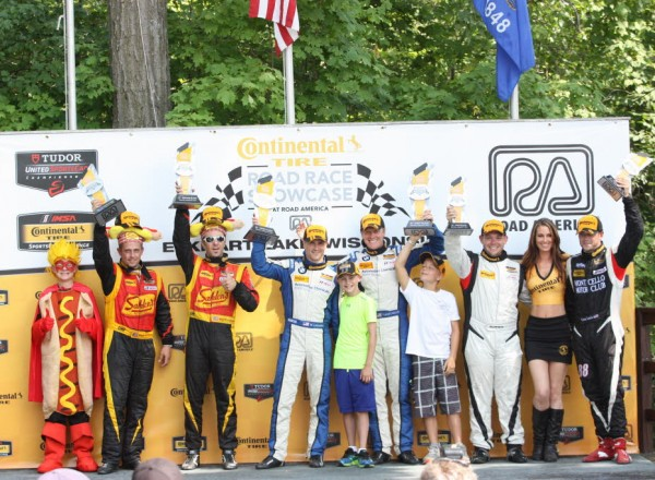 The Street Tuner podium for the Continental Tire SportsCar Challenge.  [Mark Walczak Photo]