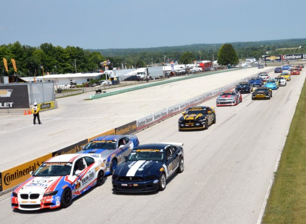 The start of the Continental Tire SportsCar Championship at Road America.  [Russ Lake Photo]