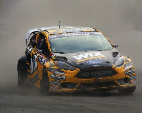 Through six races in the 2014 Global Rallycross season, Nelson Piquet, Jr. sits at the top of the point standings.  [credit Alison Padron/Red Bull Content Pool]