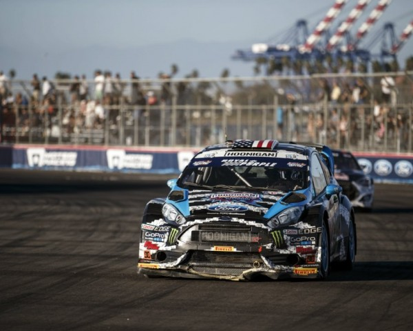 Ken Block took over the Red Bull Global RallyCross series points lead following the doubleheader weekend.  [Credit Larry Chen / Red Bull Content Pool]