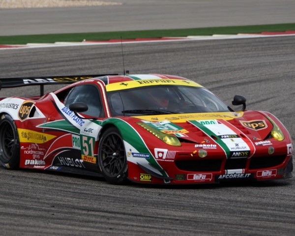 Gimmi Bruni at speed in the Ferrari in Austin.  [Jack Webster Photo]
