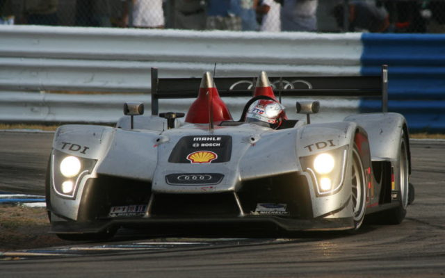 Dindo Capello in the original Audi R15 at Sebring.  [Jack Webster Photo]