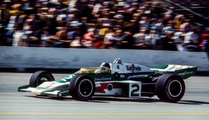 Johnny Rutherford won the pole for the Bettenhausen 200 in the Team McLaren Gatorade McLaren M16-Offy.  [Photo courtesy of the Glenn Snyder collection]