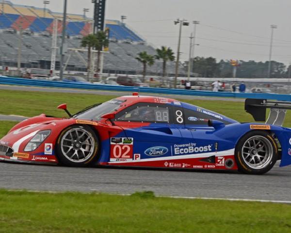 Kyle Larson co-drives the No. 02 Ford EcoBoost Daytona Prototype with IndyCar stars Scott Dixon and Tony Kanaan along with NASCAR teammate Jamie McMurray.  [Joe Jennings Photo]
