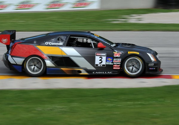 Johnny O'Connell races through turn 7 at Road America in his Cadillac.  [John Wiedemann Photo]