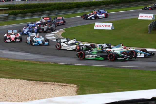 Last year's Honda Indy Grand Prix of Alabama was a wet race, won by Ryan Hunter-Reay. [Bret Kelley Photo]