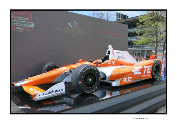 The full car display at Indianapolis of the new Honda Super Speedway car for the IndyCar Series.  [Allan Brewer Photo]