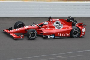 Graham Rahal practices for the 2015 Indianapolis 500.  [Russ Lake Photo]