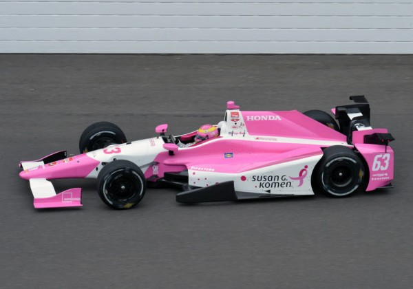 Pippa Mann on track at the Indianapolis Motor Speedway.  [Russ Lake Photo]