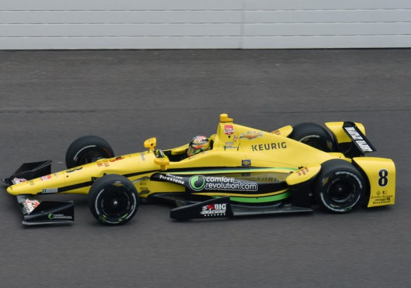 Sage Karam was the fastest Monday at the Indianapolis Motor Speedway.  [Russ Lake Photo]
