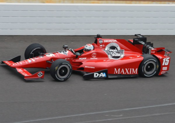 Graham Rahal during practice at the Indianapolis Motor Speedway.  [Russ Lake Photo]