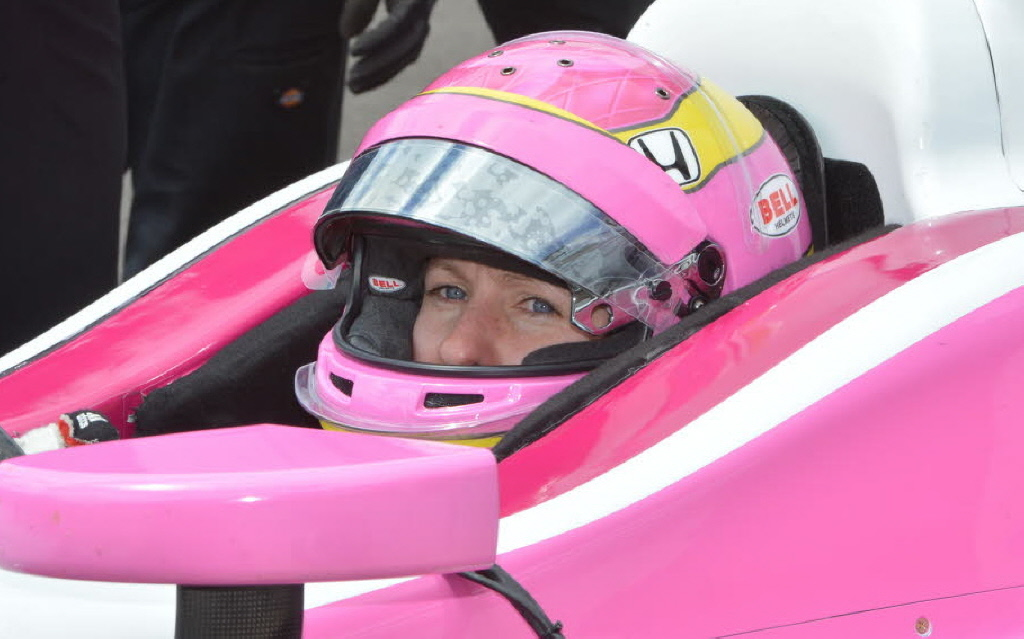 Pippa Mann is ready to roll at the Indianapolis Motor Speedway. [Russ Lake Photo]