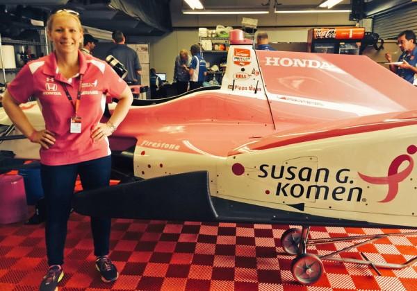Pippa Mann with her Indy 500 ride.  [Joe Jennings Photo]