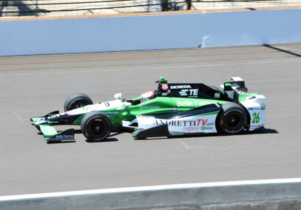 Carlos Munoz of Andretti Autosport posted the quickest lap during Wednesday's practice.  [Russ Lake Photo]