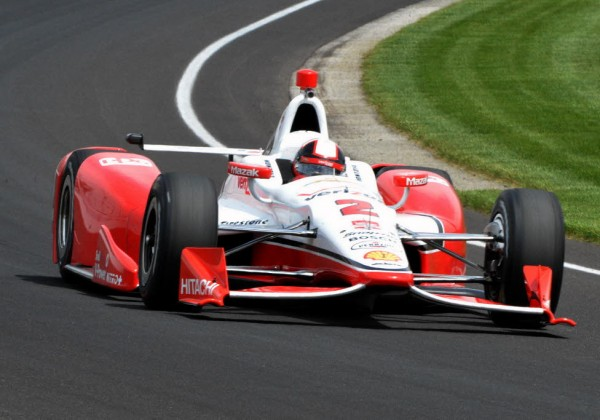 Juan Pablo Montoya during Thursdays practice at IMS.  [Russ Lake Photo]