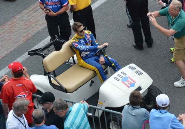 Marco Andretti heads out to pit lane.  [Russ Lake Photo]
