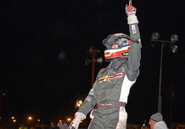 Kody Swanson gives victory salute.  [Joe Jennings Photo]