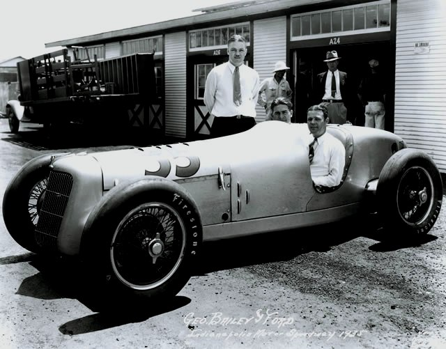 George Bailey in the ill-fated 1935 Miller-Ford at Indianapolis. [Photo courtesy of the Indianapolis Motor Speedway]