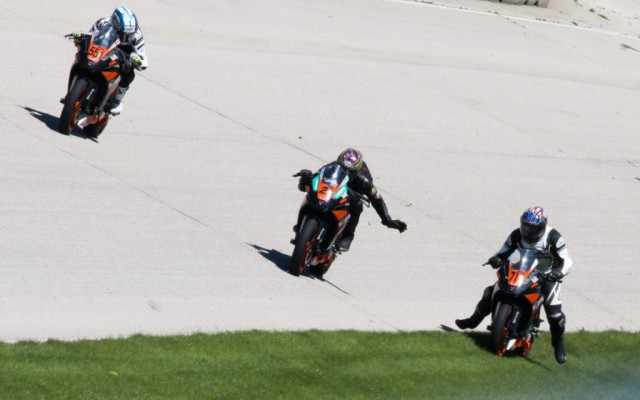 KTM RC Cup action at Road America.